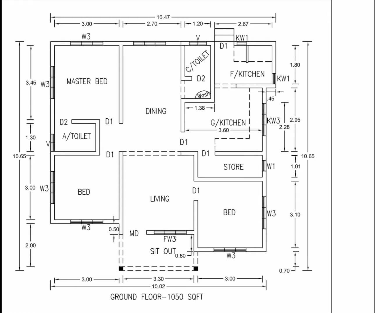 1000-sq-ft-House-Plans-3-Bedroom-sketch