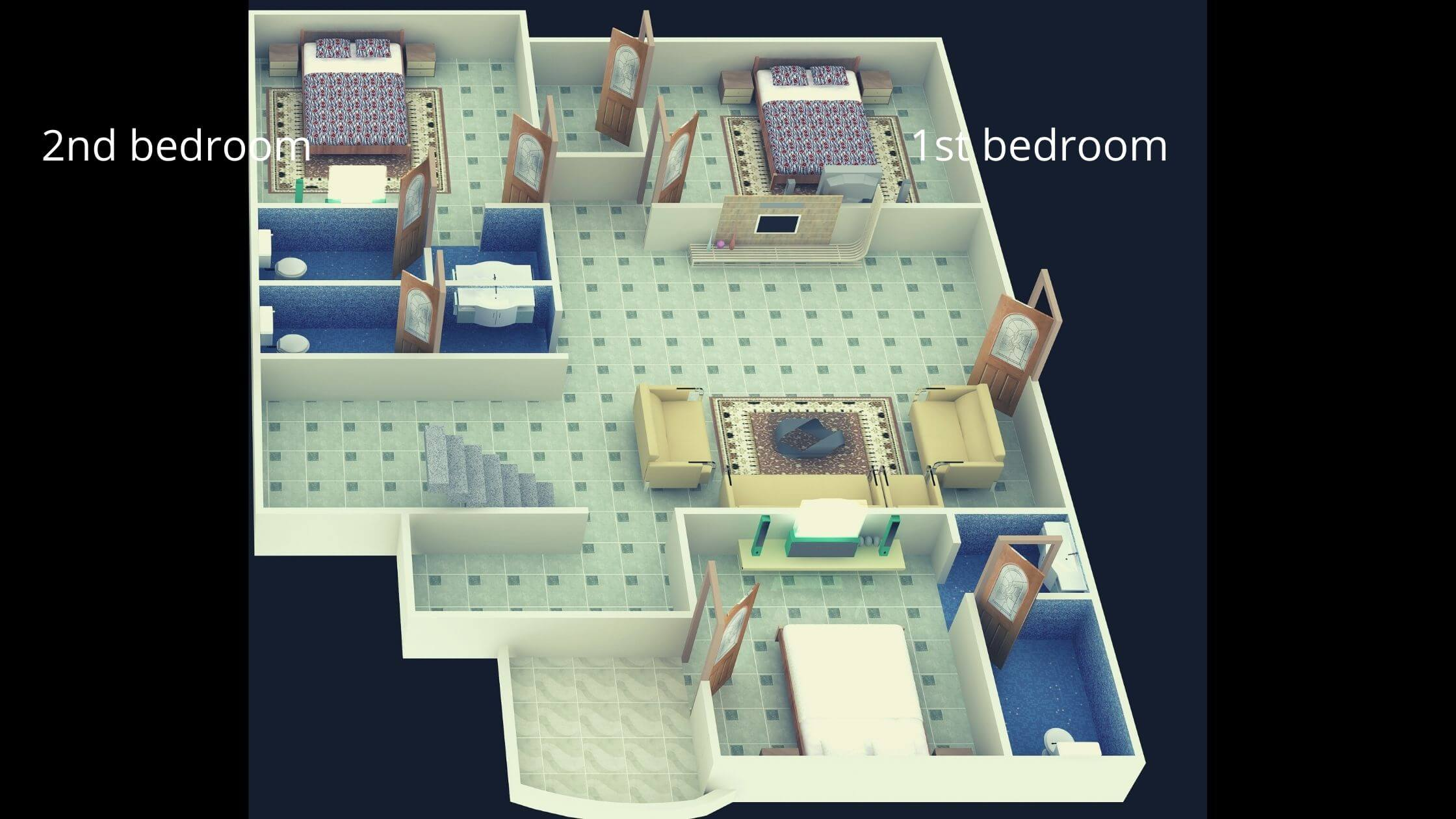 2 Bedroom House Plans Indian Style in Budget