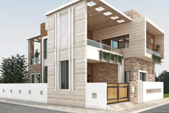 3bhk flat design by Nawaz Builder