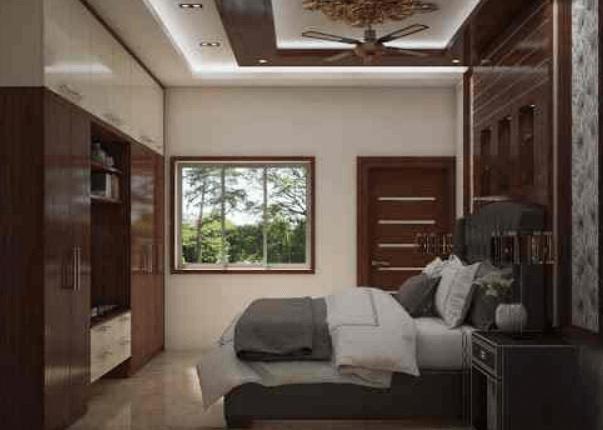 bed room design by Infinity Designs Studio