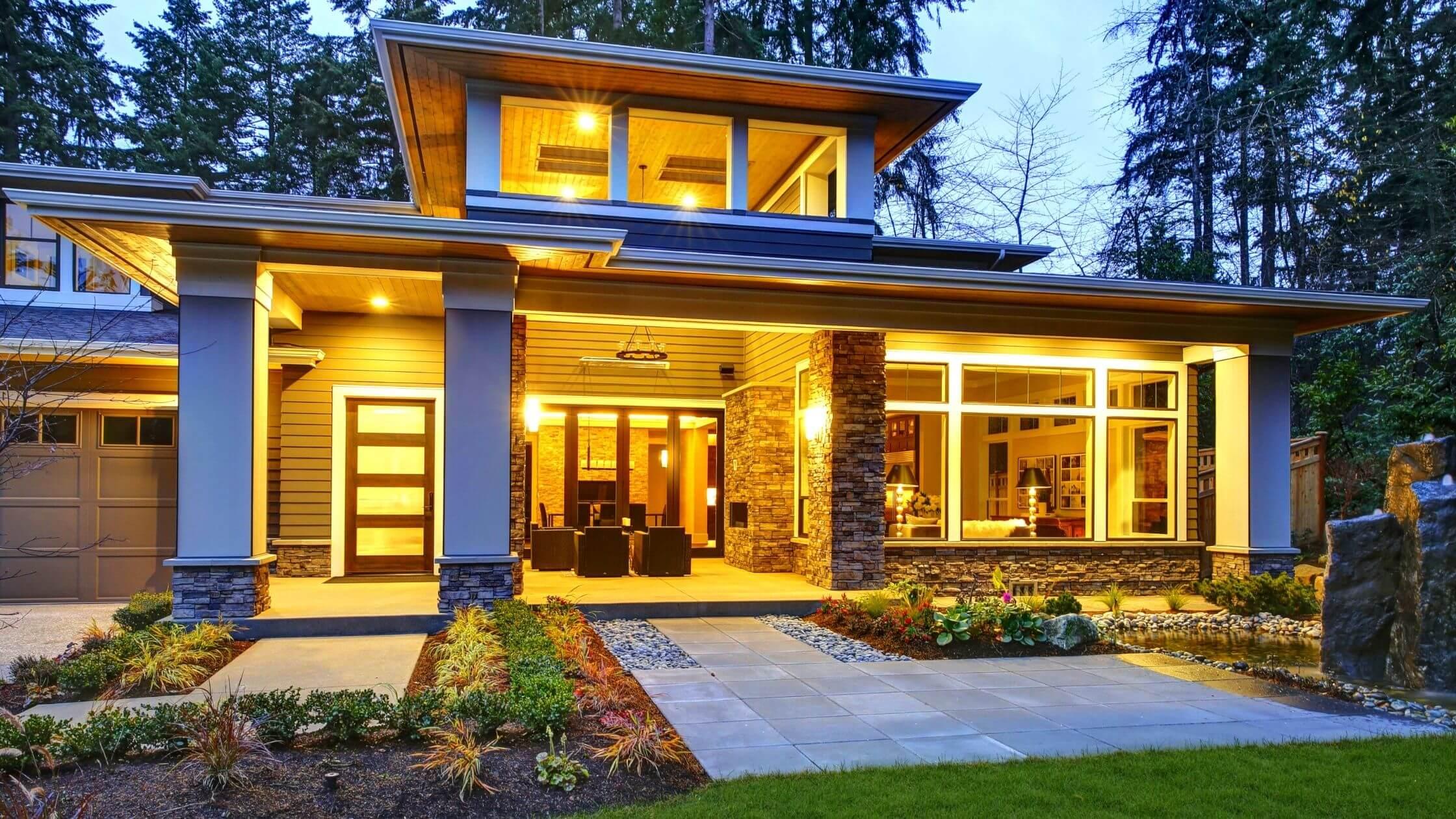best single floor home front design