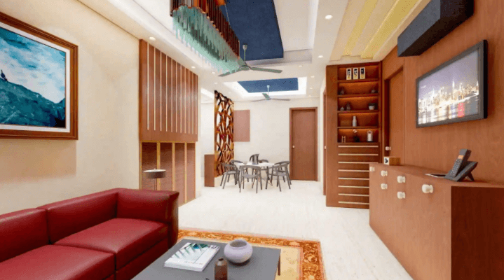 living room design by The Fourth Dimension