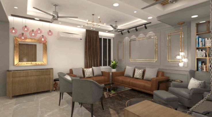 living room design by Waymour Design Studio