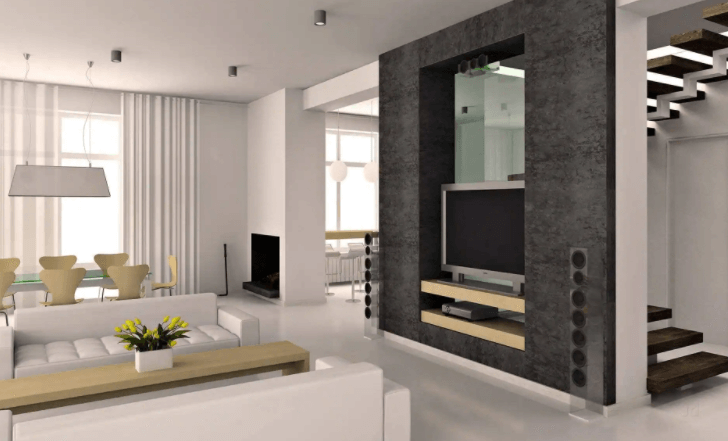 living room interior designing by Aurous Interiors Pvt Ltd