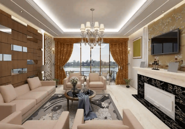 livingroom design by Kalakriti Interiors & Vastu Consultants