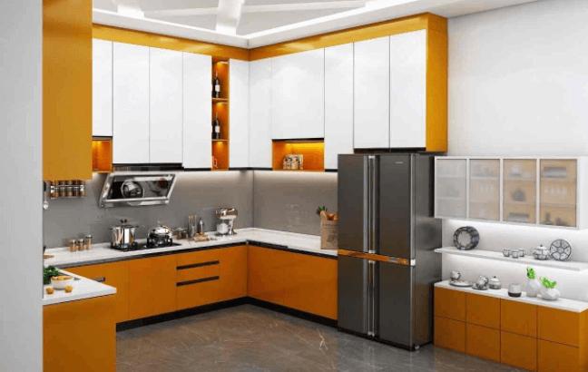 modular kitchen design by Design Inventors