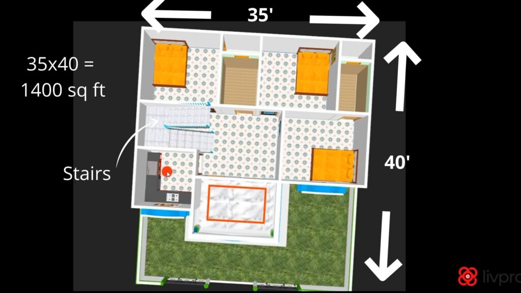 35x40 house plans east facing