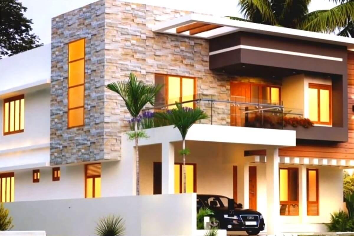 3D house front elevation design