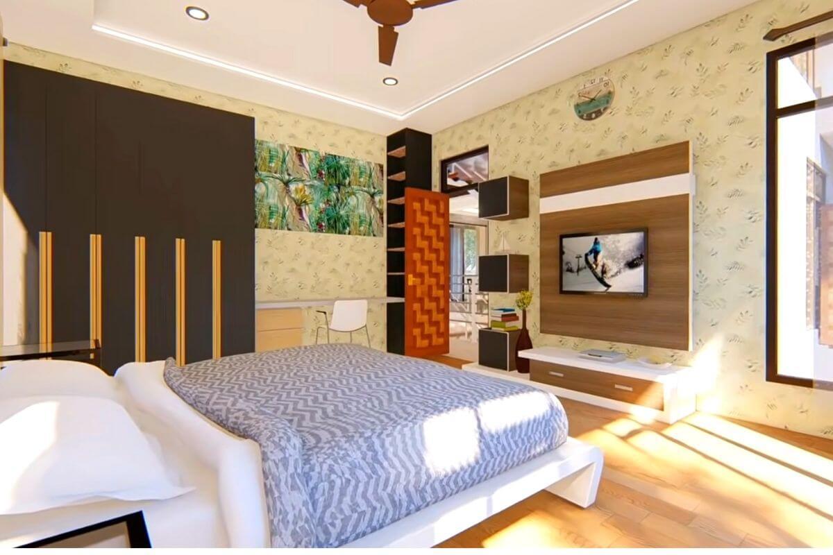 4 BHK House Master bedroom design