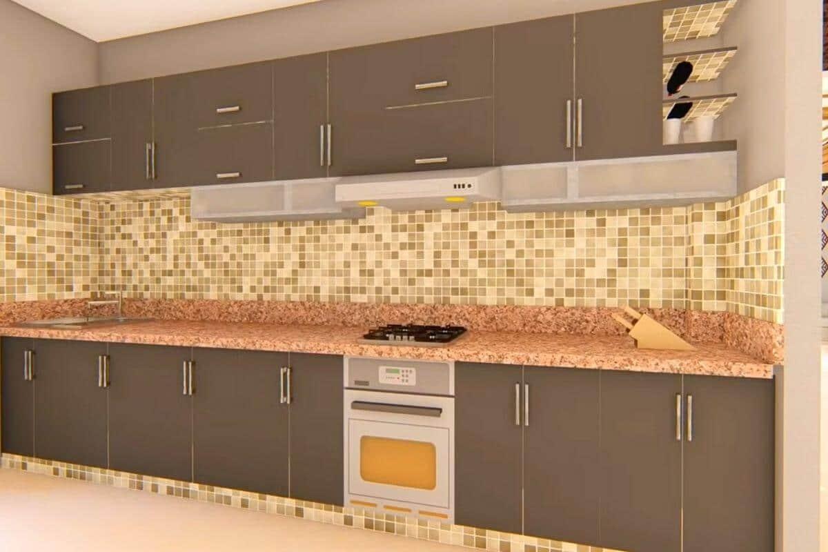 4 BHK House Modular kitchen design