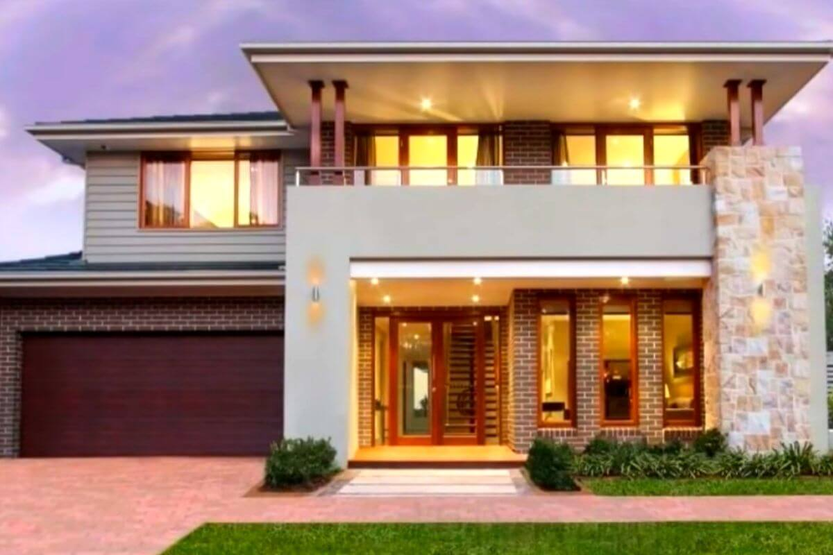 Double Floor House Front Elevation