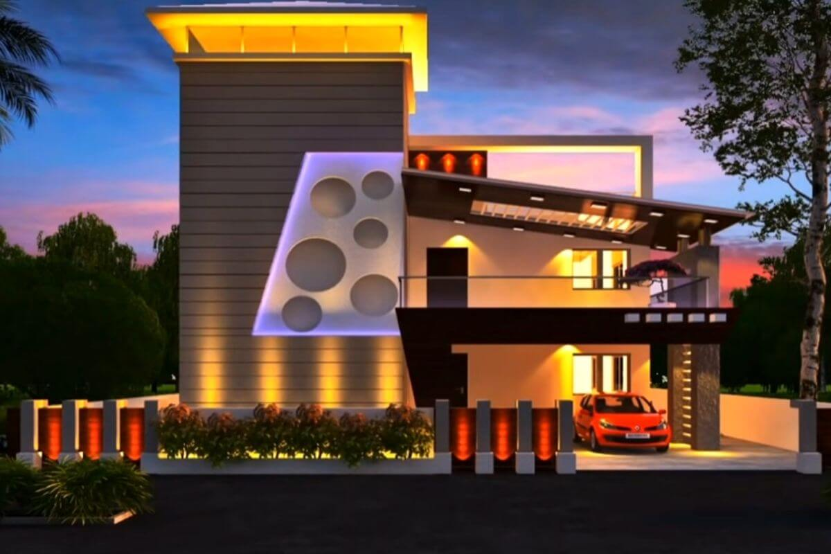 Independent Indian Normal House Front Elevation Designs by livproo
