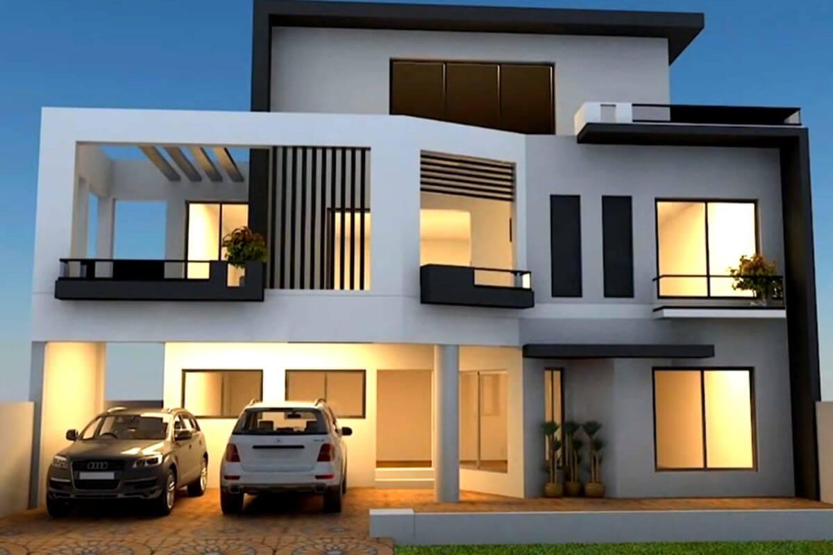 Ultra-Modern Normal House Front Elevation Designs