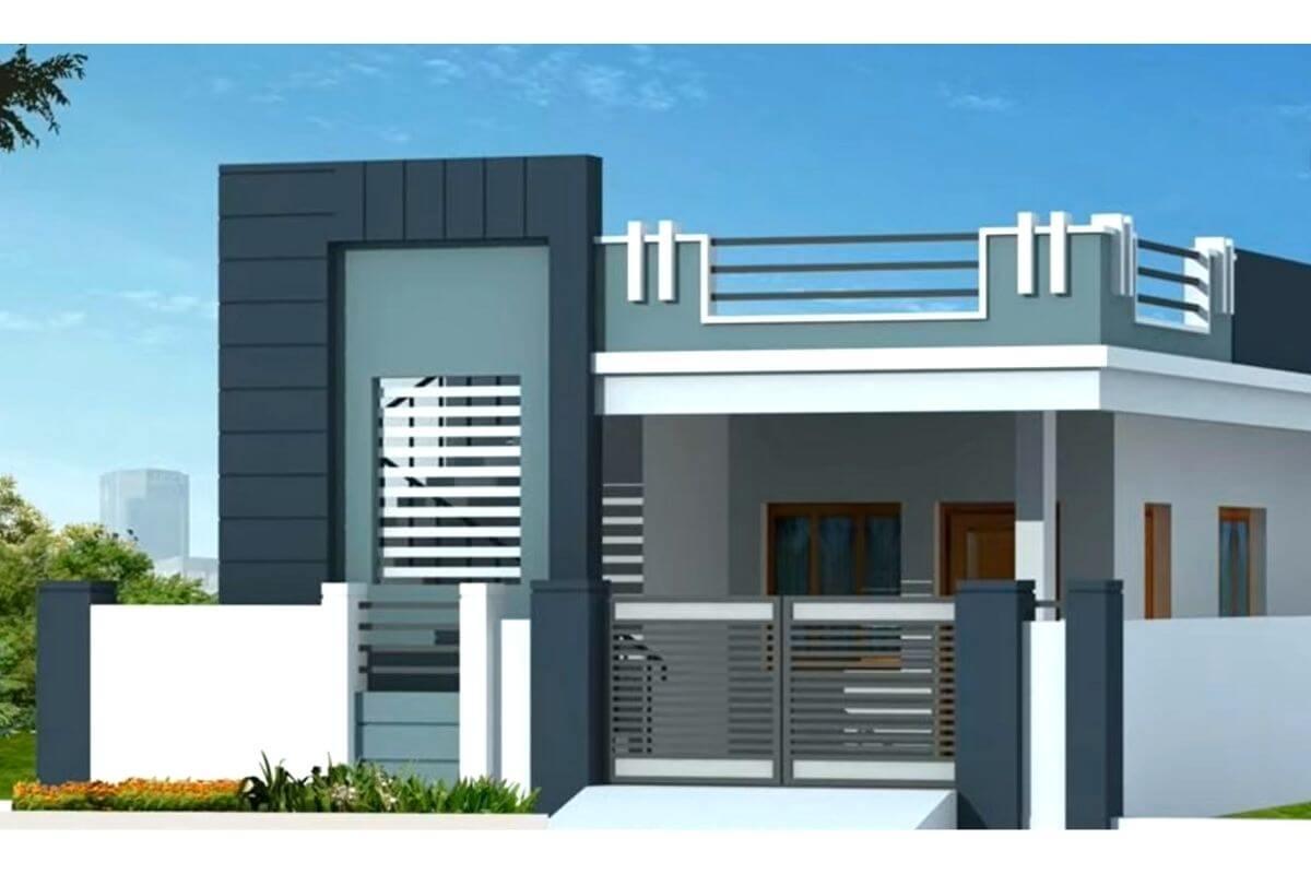 village house front design images